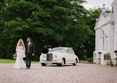 Bride-Groom-Wedding-Car-Somerford-Hall
